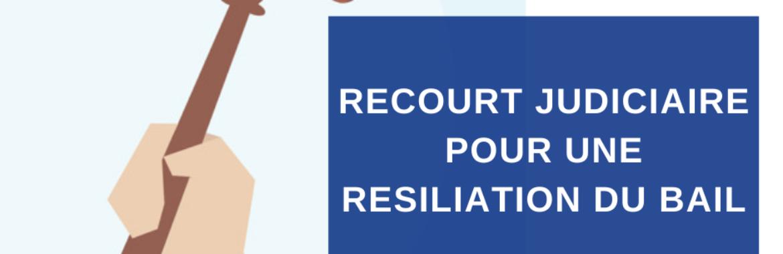 RECOURT JUDICIAIRE POUR UNE RESILIATION DU BAIL (2)