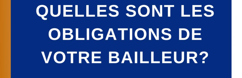 CHAPITRE 2 – Obligation du bailleur (Fin)